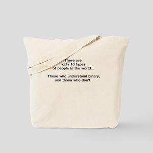 10 Types of People - Binary Tote Bag