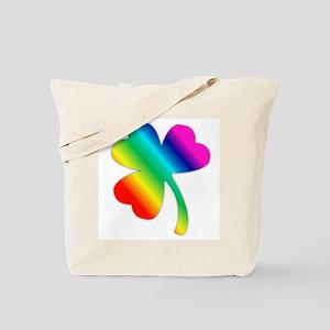 St Pat's Day Rainbow Shamrock Tote Bag