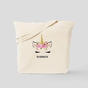 Unicorn Face Eyelashes Personalized Gift Tote Bag