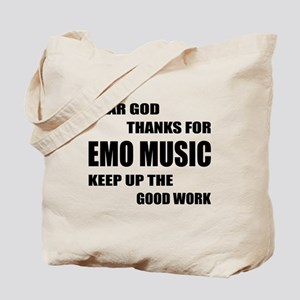 Dear God Thanks For Emo Tote Bag