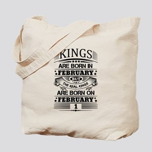 Real Kings Are Born On February 1 Tote Bag