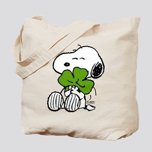 Snoopy Hugging Clover Tote Bag