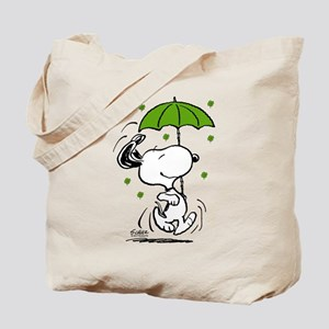 Snoopy Raining Clovers Tote Bag