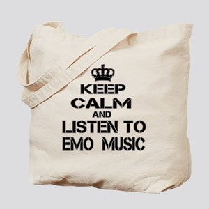 Keep Calm And Listen to Emo Music Tote Bag