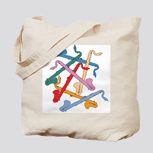 Colorful Bass Clarinets Tote Bag