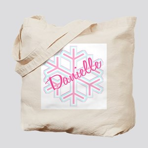 Danielle Snowflake Personalized Tote Bag