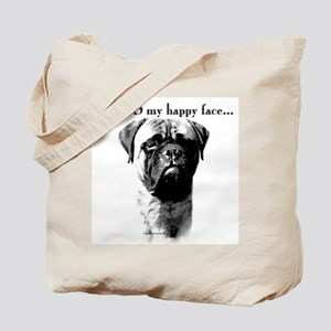 Bullmastiff Happy Face Tote Bag