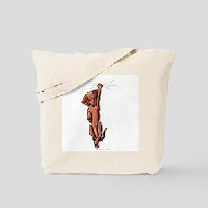 Dangling Dachsie Tote Bag