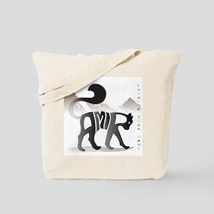 Amir black cat Tote Bag