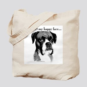 Boxer Happy Face Tote Bag