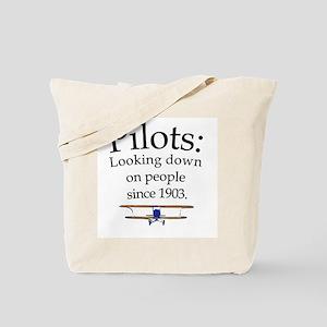 Pilots: Looking down on peopl Tote Bag