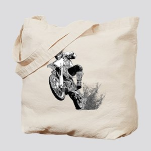 Dirtbike Wheeling in Mud Tote Bag