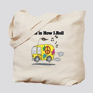 How I Roll (Hippie Bus/Van) Tote Bag
