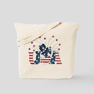 USA Fireworks Tote Bag