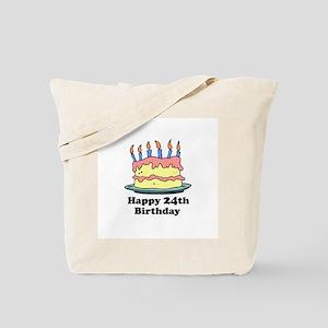 Happy 24th Birthday Tote Bag