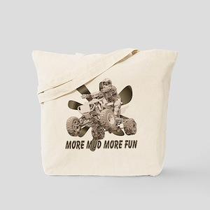 More Mud More Fun on an ATV Tote Bag