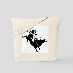 Black Bull Rider Tote Bag