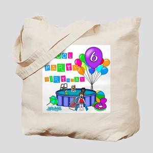 Pool Party 6th Birthday Tote Bag