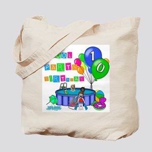 Pool Party 10th Birthday Tote Bag