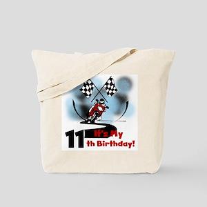 Motorcycle Racing 11th Birthday Tote Bag