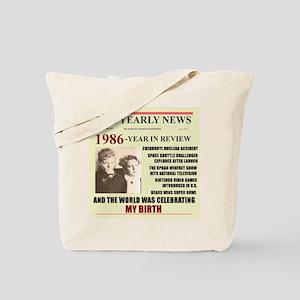 born in 1986 birthday gift Tote Bag