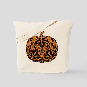Damask Pattern Pumpkin Tote Bag