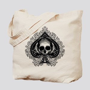 Skull Ace Of Spades Tote Bag