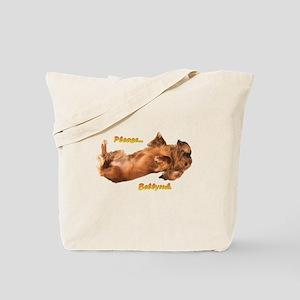 Bellyrub Doxie Tote Bag