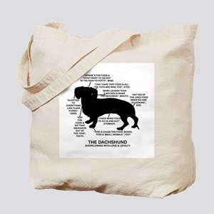 Dachshund Chart Tote Bag