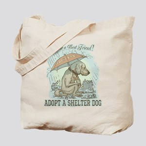 Best Friend Rescue Dog Tote Bag