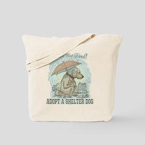 Best Friend Rescue Dog Tote Bag