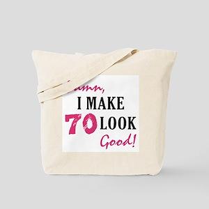 Hot 70th Birthday Tote Bag