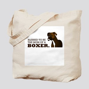 Blessed Boxer Mom Tote Bag