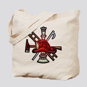 Firefighter Graphic Symbol Tote Bag