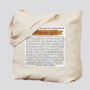 Gilmore Girls Life Lessons Tote Bag
