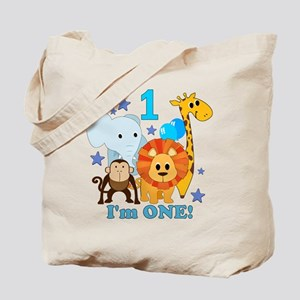 First Birthday Jungle Tote Bag