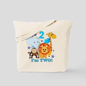 2nd Birthday Jungle Tote Bag