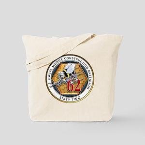 USNMCB-62 Navy Seabees Tote Bag