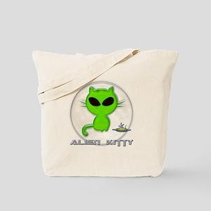 alien kitty Tote Bag