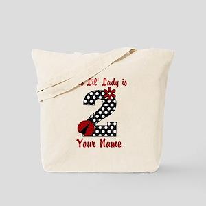 2nd Birthday Ladybug Tote Bag