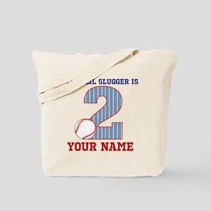 2nd Birthday Baseball Tote Bag