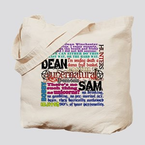 Supernatural Quotes Tote Bag