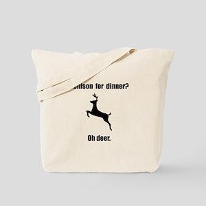 Venison Deer Pun Tote Bag