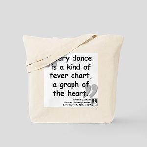 Graham Dance Quote Tote Bag