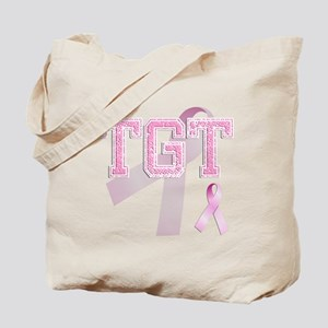 TGT initials, Pink Ribbon, Tote Bag