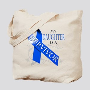 My Daughter is a Survivor (blue) Tote Bag