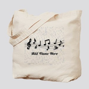 Personalized Musical Notes design Tote Bag
