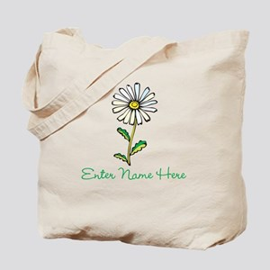 Personalized Daisy Tote Bag