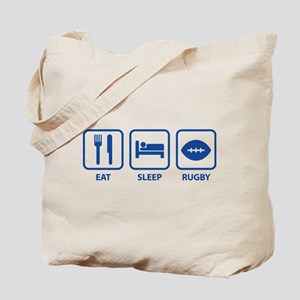 Eat Sleep Rugby Tote Bag