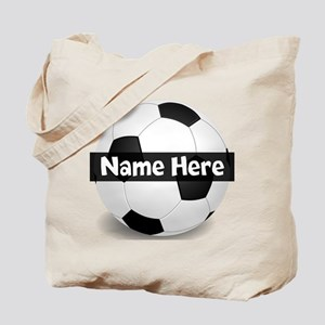 Personalized Soccer Ball Tote Bag